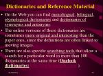 dictionaries and reference material18