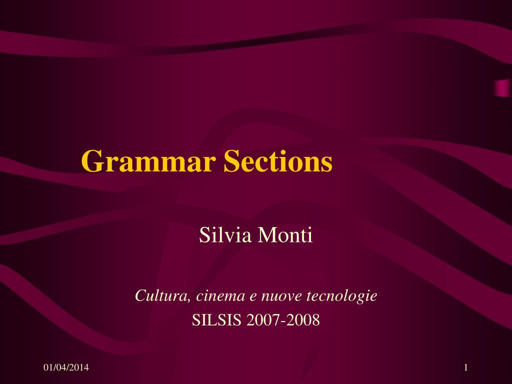 grammar sections l.