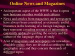 online news and magazines