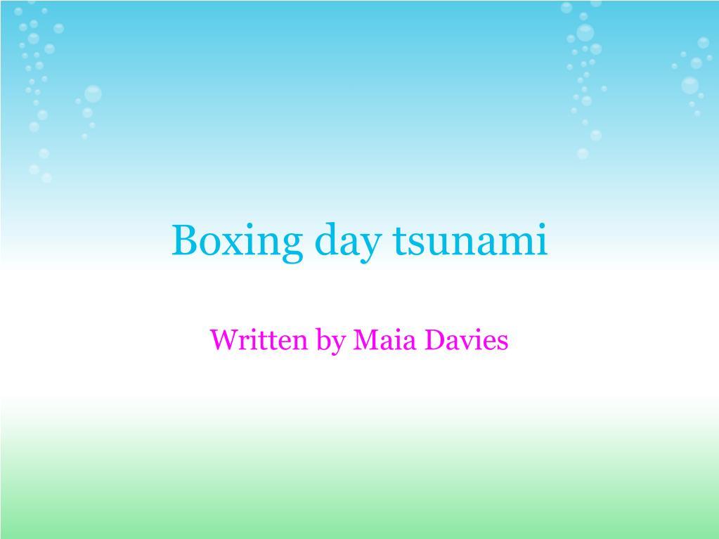 boxing day tsunami l.