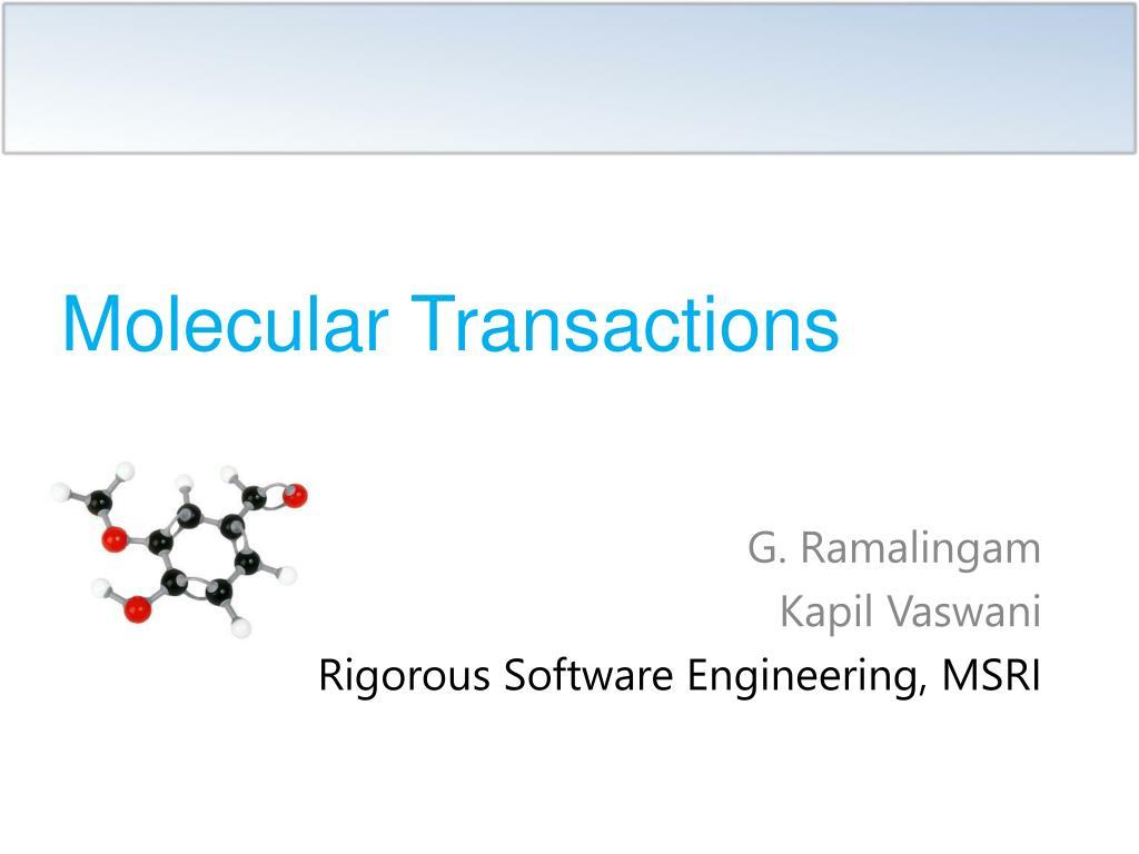 molecular transactions l.