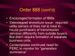 order 888 cont d