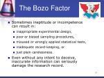 the bozo factor