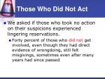 those who did not act32