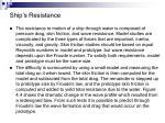 ship s resistance