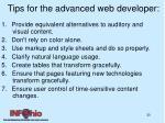 tips for the advanced web developer