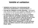 validit et validation