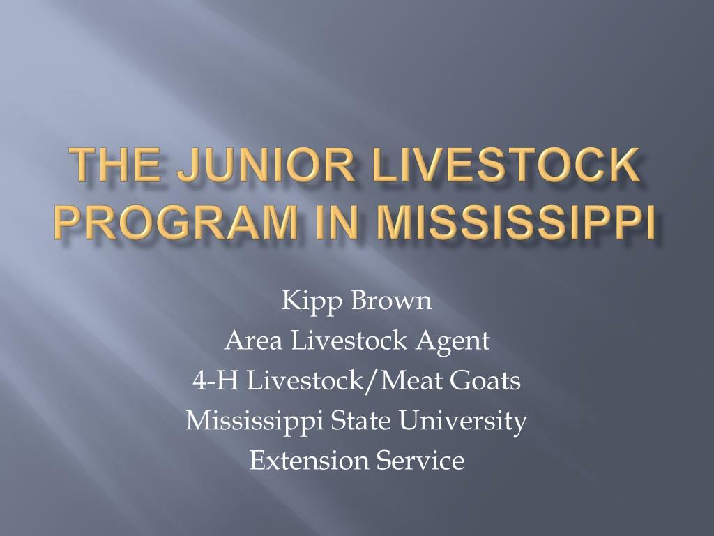 the junior livestock program in mississippi l.