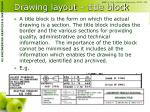 drawing layout title block