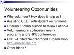 volunteering opportunities