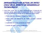 infraestructura actual de intec chile en el mbito de desarrollo tecnol gico