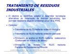 tratamiento de residuos industriales
