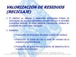 valorizaci n de residuos reciclaje