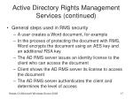 active directory rights management services continued