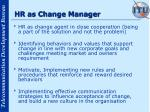 hr as change manager