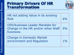 primary drivers of hr transformation17