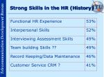 strong skills in the hr history