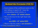 behind the formula niln