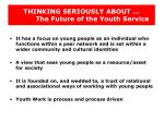 thinking seriously about the future of the youth service17