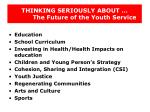 thinking seriously about the future of the youth service21