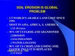 soil erosion is global problem