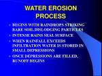 water erosion process
