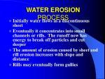 water erosion process36