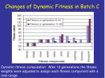 changes of dynamic fitness in batch c