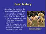 sumo history