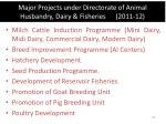 major projects under directorate of animal husbandry dairy fisheries 2011 12