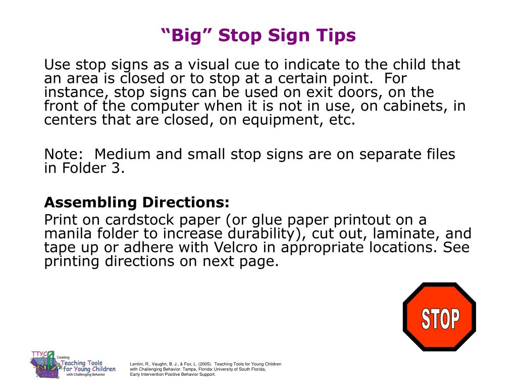 big stop sign tips l.