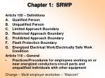 chapter 1 srwp