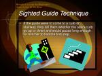 sighted guide technique9