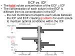 ecf vs icf