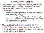 primary active transport