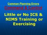 common planning errors command control
