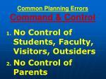 common planning errors command control72