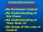 common planning errors command control73