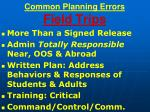 common planning errors field trips