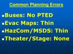 common planning errors54