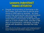 lessons indentified impact of katrina