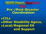 nidrr report sign ificant gaps82