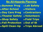 no all hazards planning57