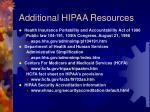 additional hipaa resources