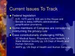 current issues to track