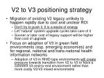 v2 to v3 positioning strategy
