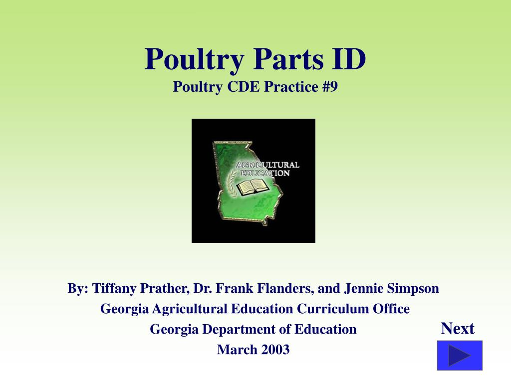 poultry parts id poultry cde practice 9 l.