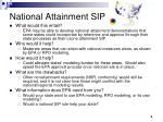 national attainment sip