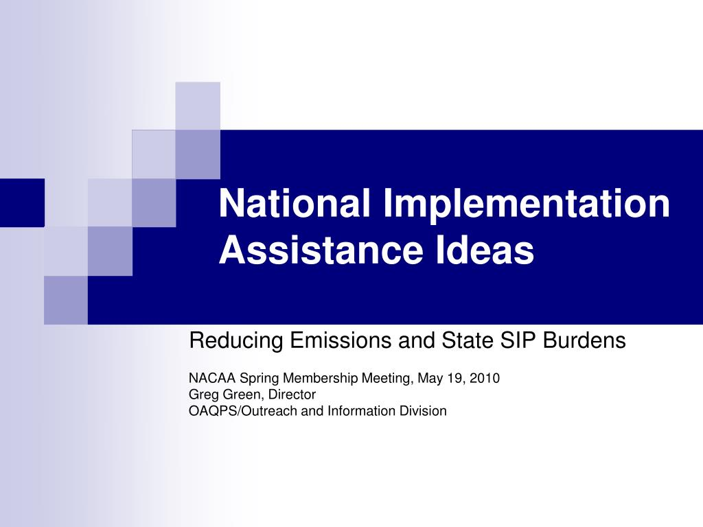 national implementation assistance ideas l.