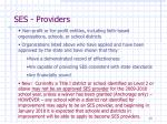 ses providers